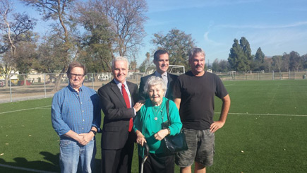 Garcetti and Krekorian at Whitsett Soccer Fields